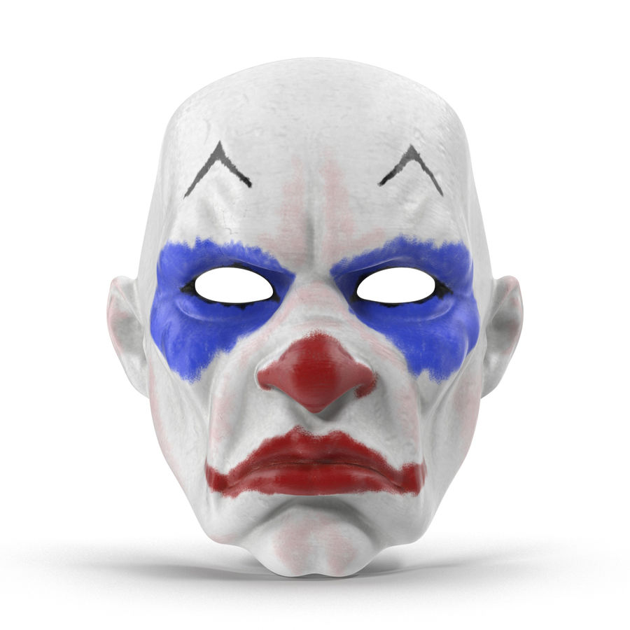 Clown Mask royalty-free 3d model - Preview no. 6