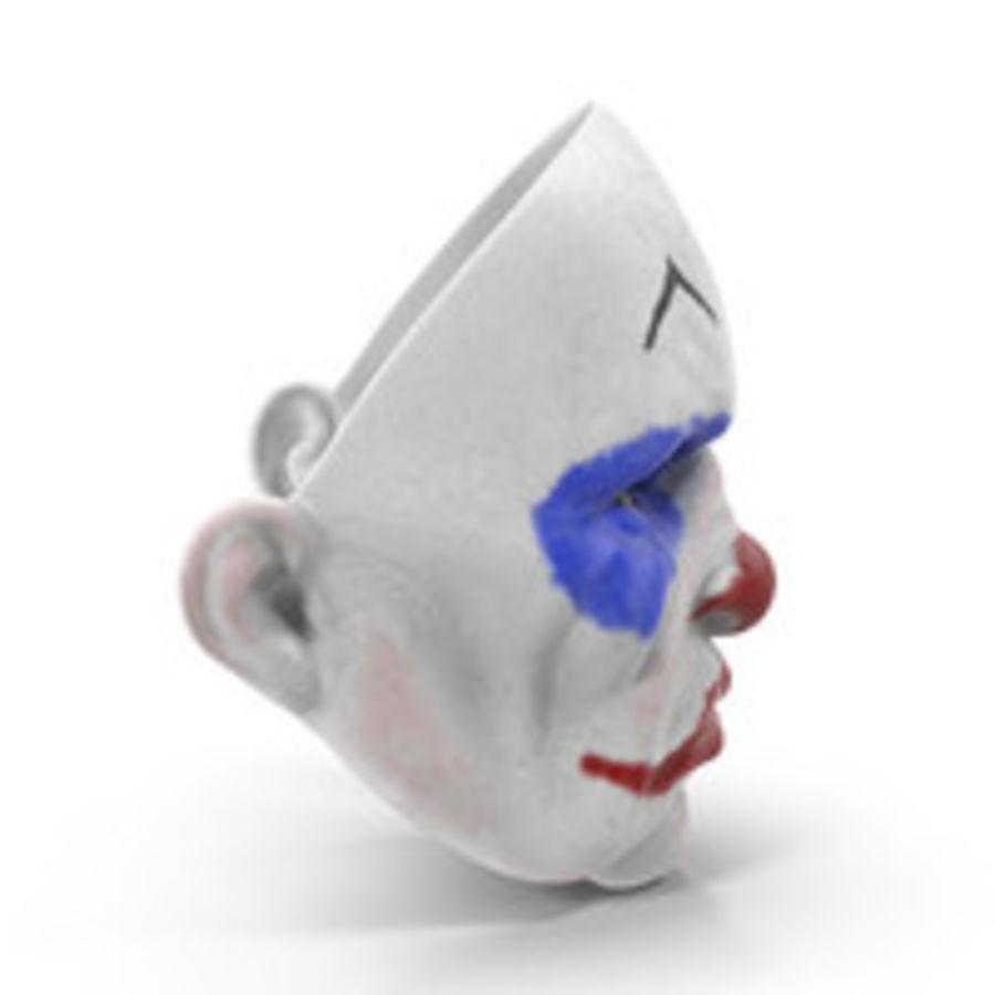 Clown Mask royalty-free 3d model - Preview no. 5