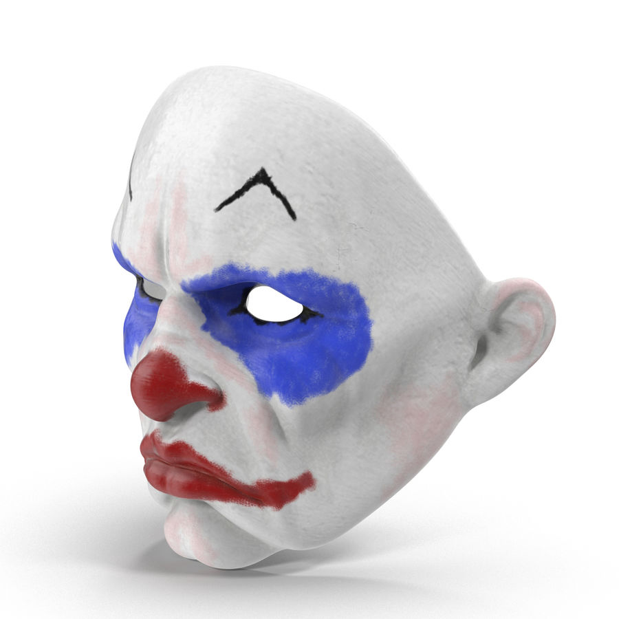 Clown Mask royalty-free 3d model - Preview no. 4