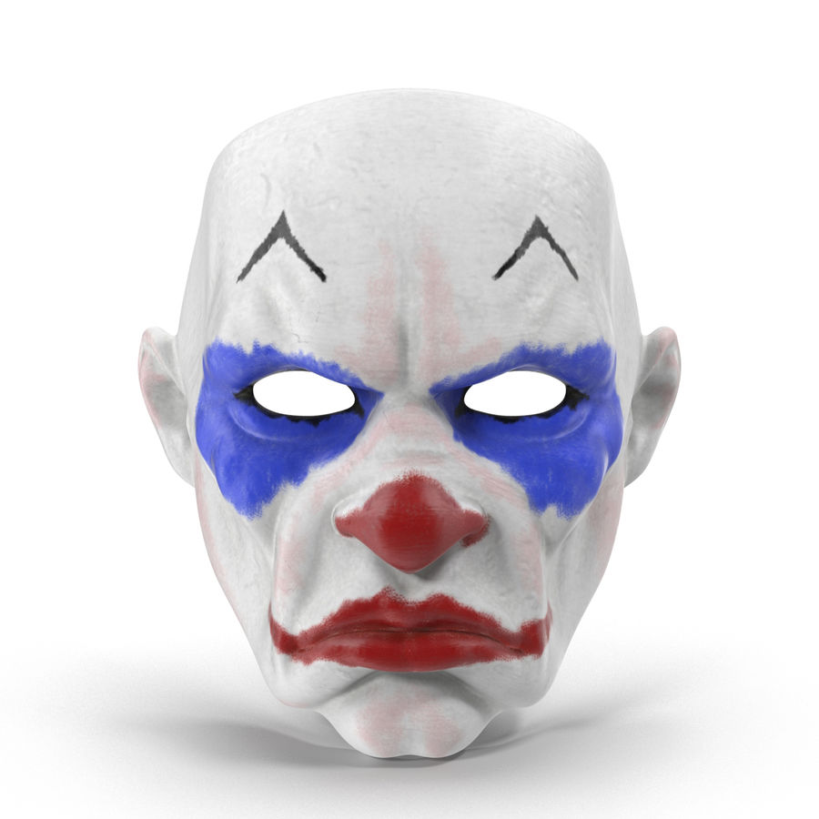 Clown Mask royalty-free 3d model - Preview no. 2