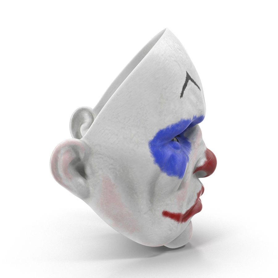 Clown Mask royalty-free 3d model - Preview no. 5