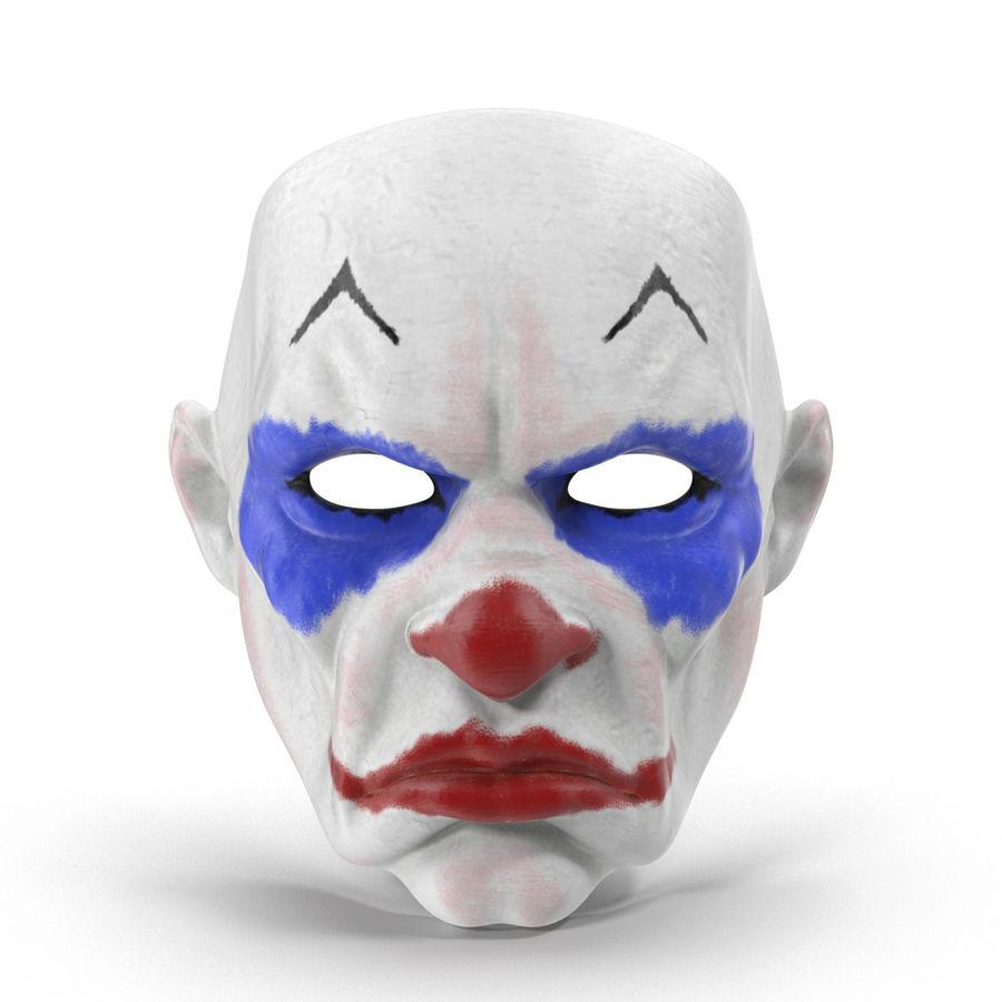 Clown Mask royalty-free 3d model - Preview no. 2