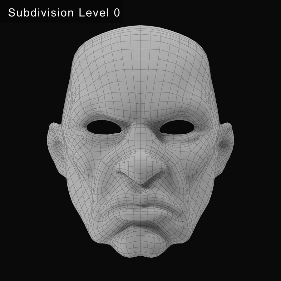 Clown Mask royalty-free 3d model - Preview no. 13