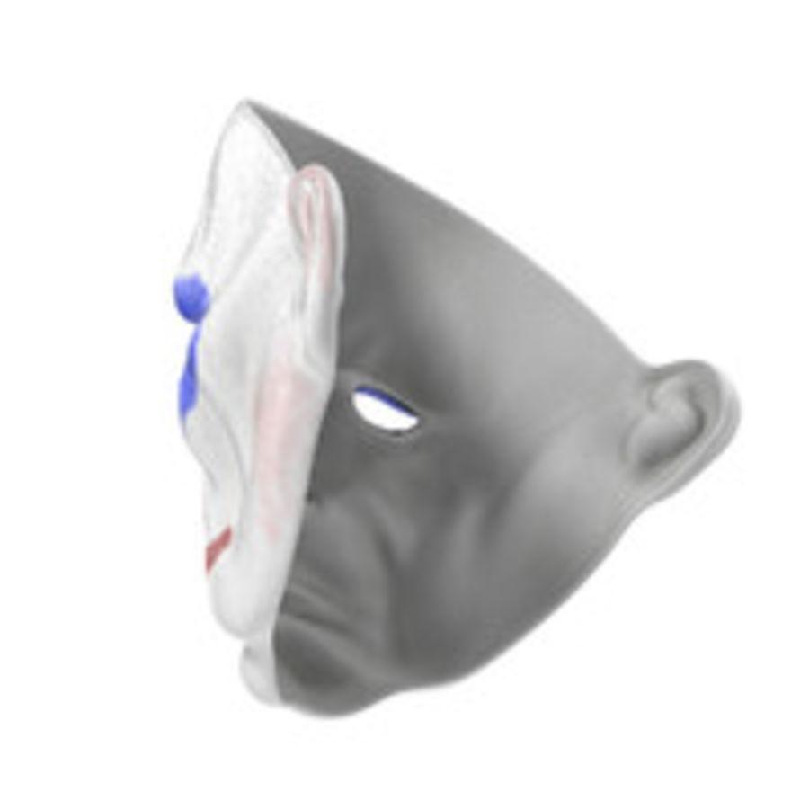 Clown Mask royalty-free 3d model - Preview no. 9