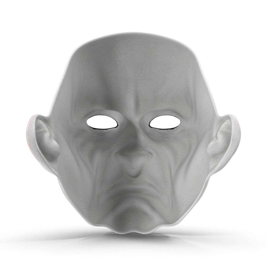 Clown Mask royalty-free 3d model - Preview no. 8