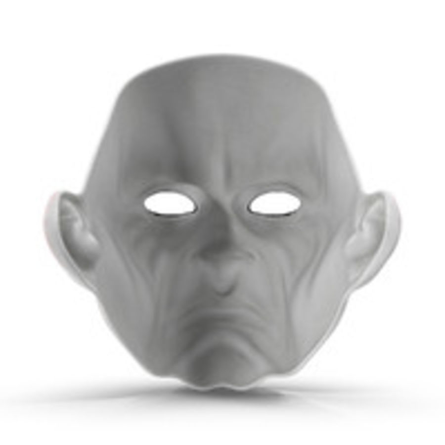 Clown Mask royalty-free 3d model - Preview no. 8