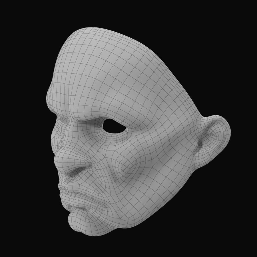 Clown Mask royalty-free 3d model - Preview no. 10