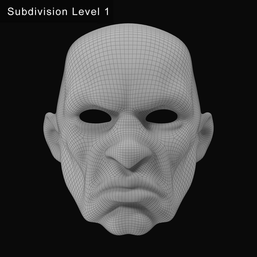 Clown Mask royalty-free 3d model - Preview no. 14