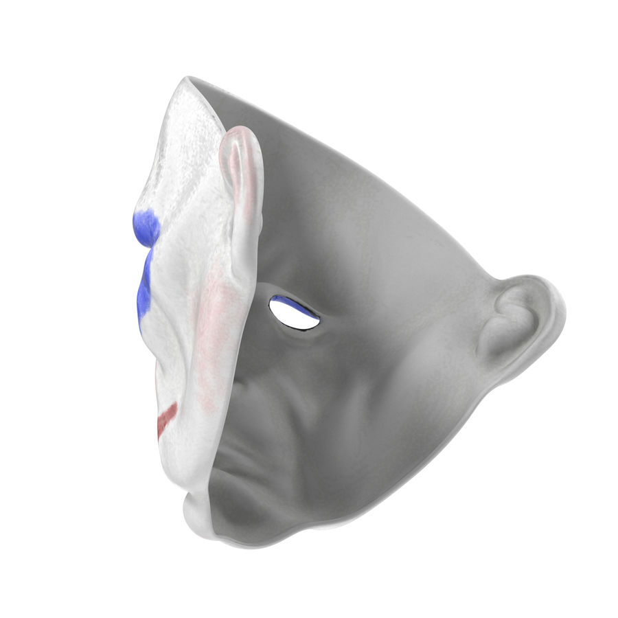 Clown Mask royalty-free 3d model - Preview no. 9