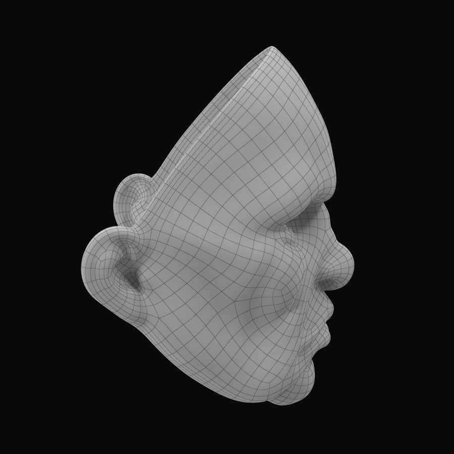 Clown Mask royalty-free 3d model - Preview no. 11