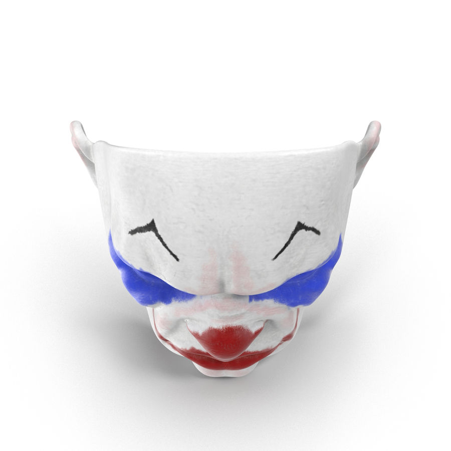 Clown Mask royalty-free 3d model - Preview no. 3