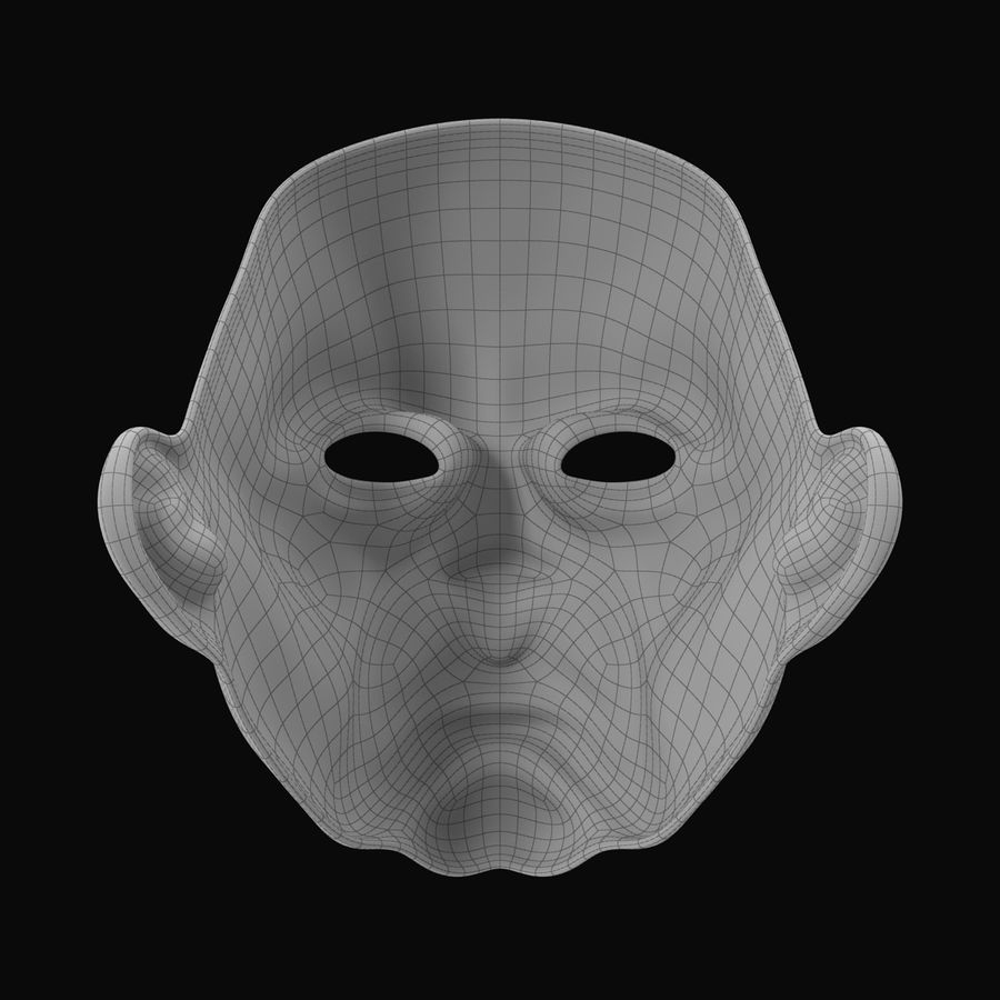 Clown Mask royalty-free 3d model - Preview no. 12