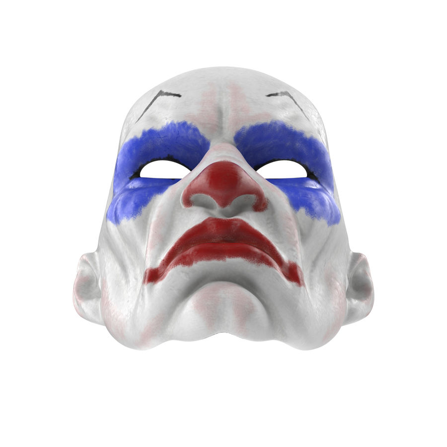 Clown Mask royalty-free 3d model - Preview no. 7