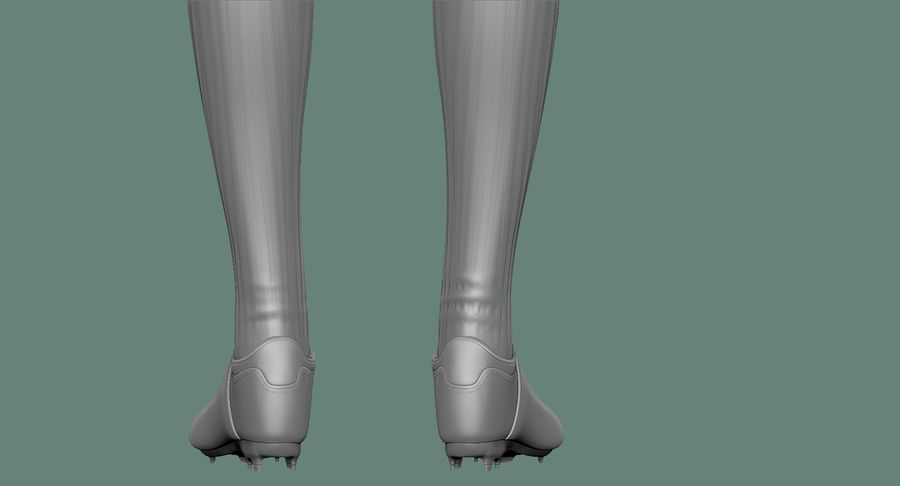 Cartoon Woman Soccer Player Sculpt royalty-free 3d model - Preview no. 29