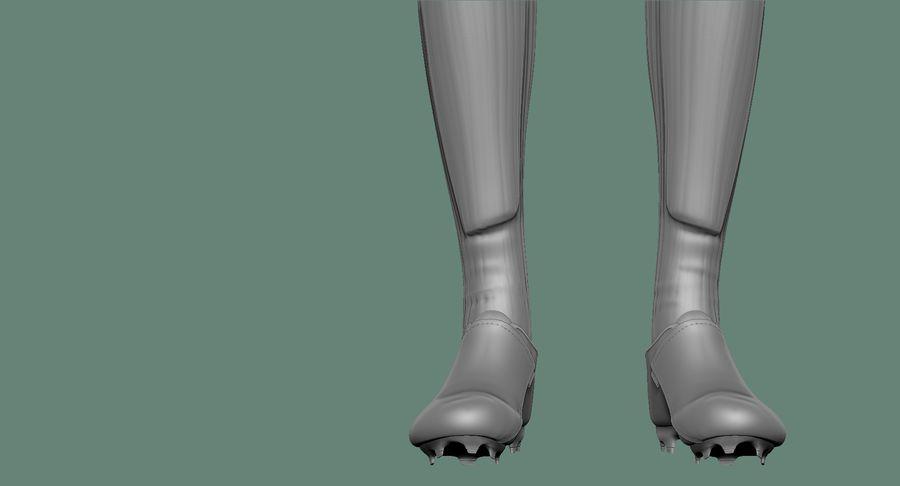 Cartoon Woman Soccer Player Sculpt royalty-free 3d model - Preview no. 28