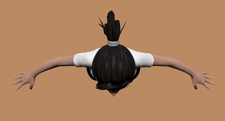 Cartoon Woman Soccer Player Sculpt royalty-free 3d model - Preview no. 9