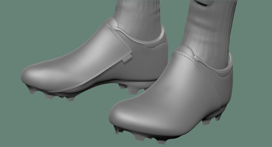 Cartoon Woman Soccer Player Sculpt royalty-free 3d model - Preview no. 33