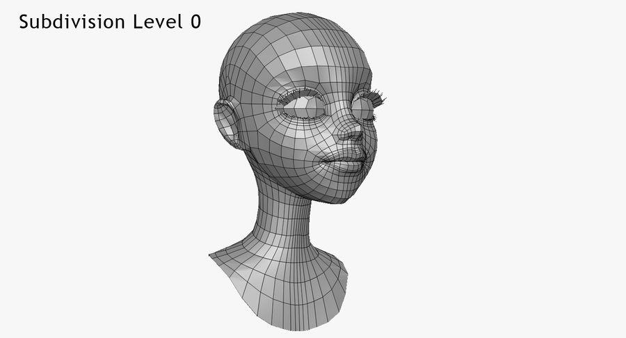 Cartoon Woman Soccer Player Sculpt royalty-free 3d model - Preview no. 36