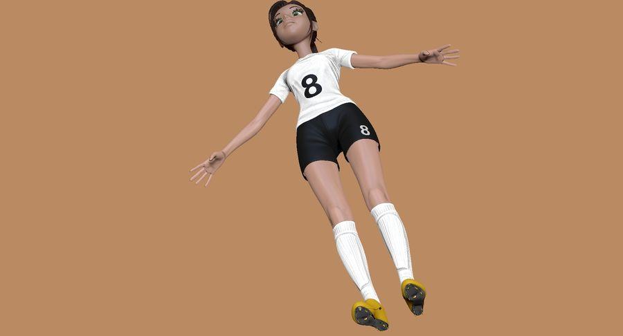 Cartoon Woman Soccer Player Sculpt royalty-free 3d model - Preview no. 6