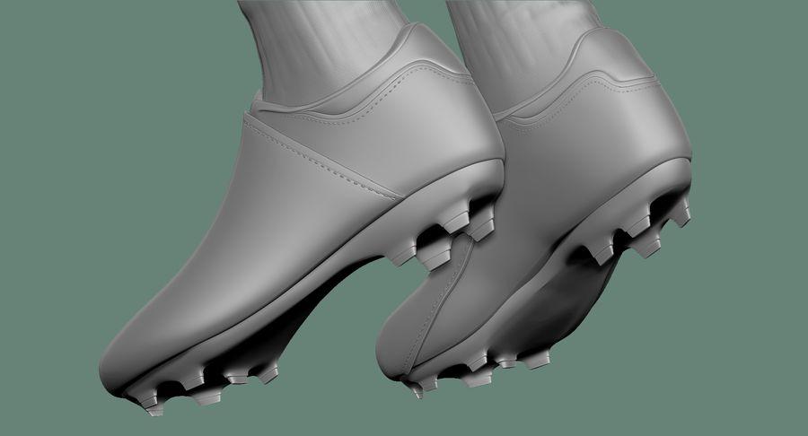 Cartoon Woman Soccer Player Sculpt royalty-free 3d model - Preview no. 31