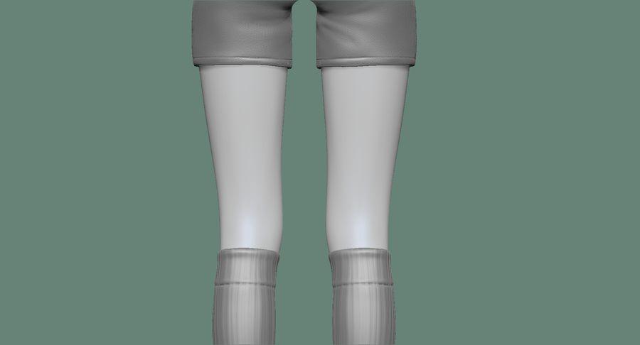 Cartoon Woman Soccer Player Sculpt royalty-free 3d model - Preview no. 24