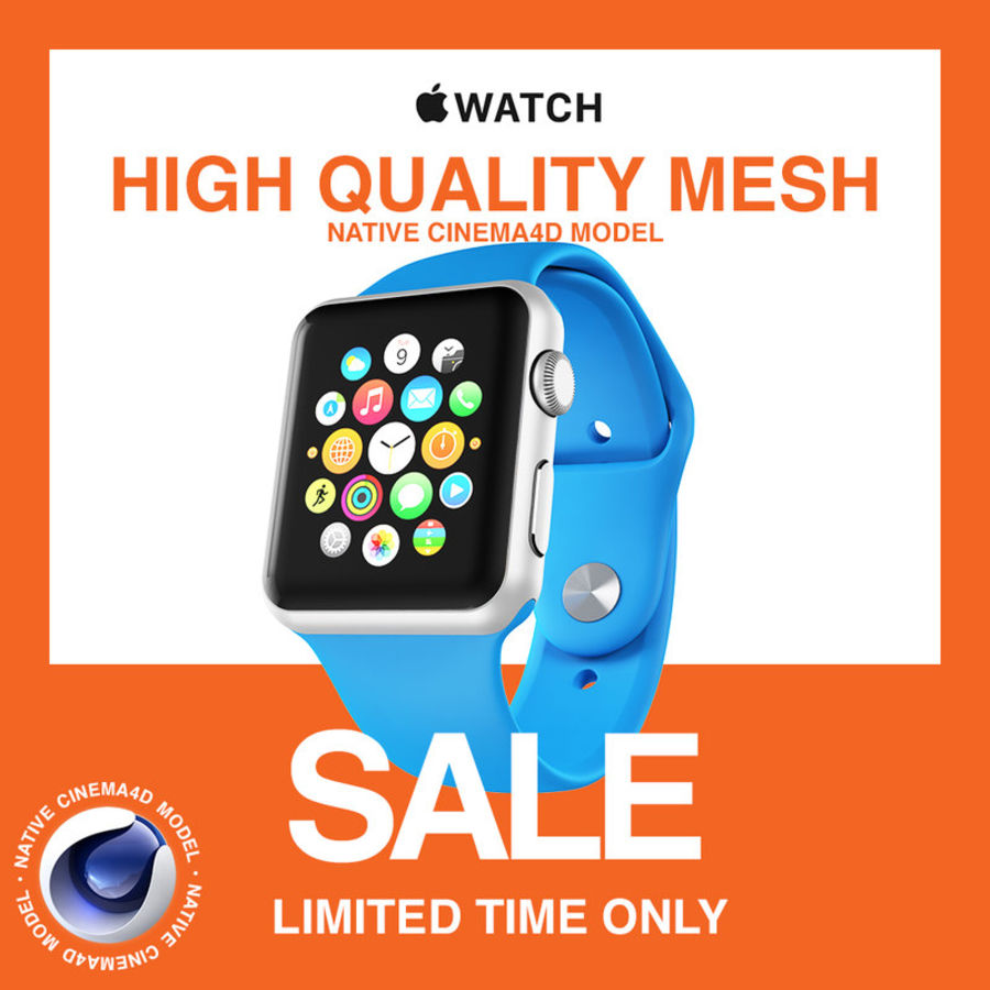 Apple Watch SPORT 42mm (SALE! LIMITED TIME ONLY!) royalty-free 3d model - Preview no. 1