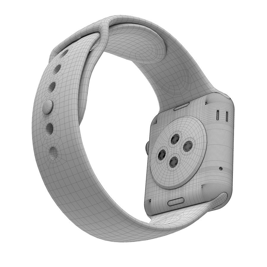 Apple Watch SPORT 42mm (SALE! LIMITED TIME ONLY!) royalty-free 3d model - Preview no. 7