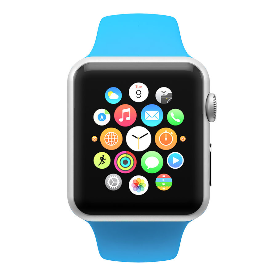 Apple Watch SPORT 42mm (SALE! LIMITED TIME ONLY!) royalty-free 3d model - Preview no. 3