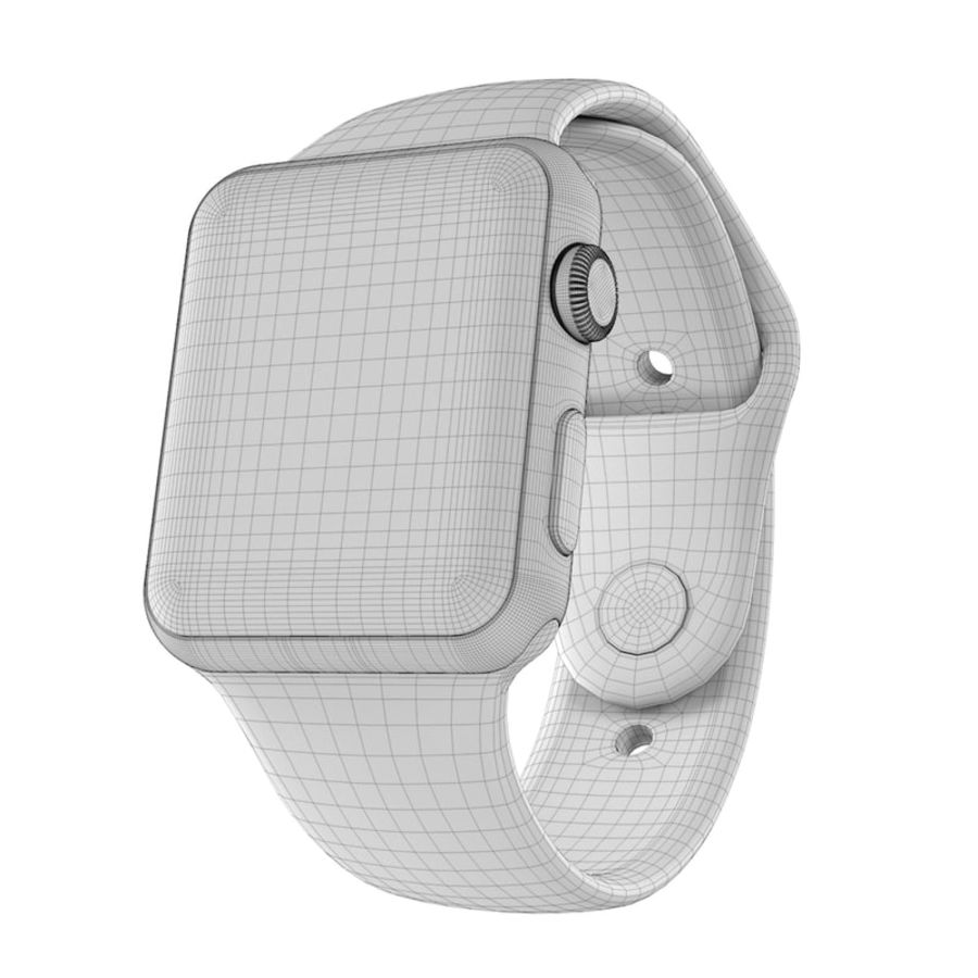 Apple Watch SPORT 42mm (SALE! LIMITED TIME ONLY!) royalty-free 3d model - Preview no. 5