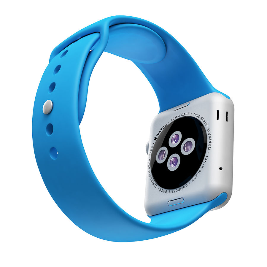 Apple Watch SPORT 42mm (SALE! LIMITED TIME ONLY!) royalty-free 3d model - Preview no. 4