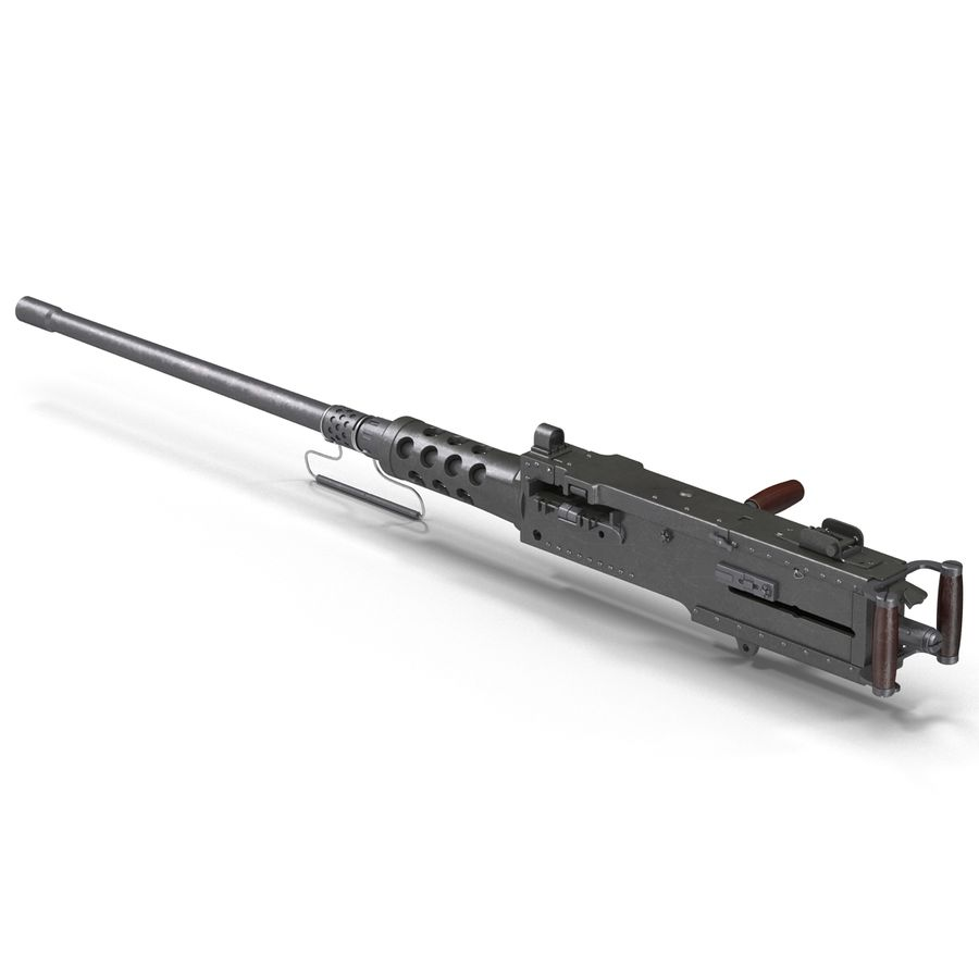 Machine Gun Browning M2 50 Caliber royalty-free 3d model - Preview no. 5