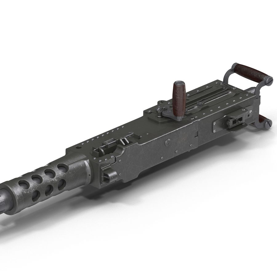 Machine Gun Browning M2 50 Caliber royalty-free 3d model - Preview no. 23
