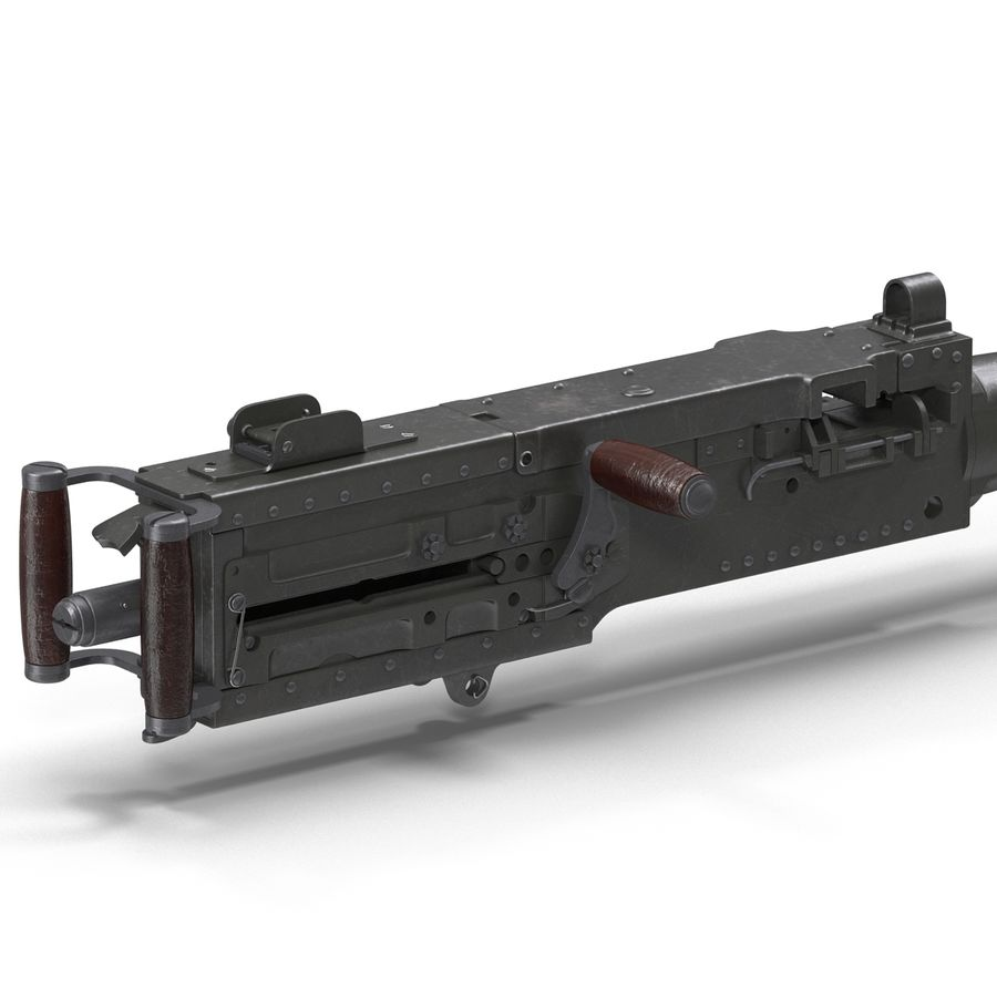 Machine Gun Browning M2 50 Caliber royalty-free 3d model - Preview no. 15