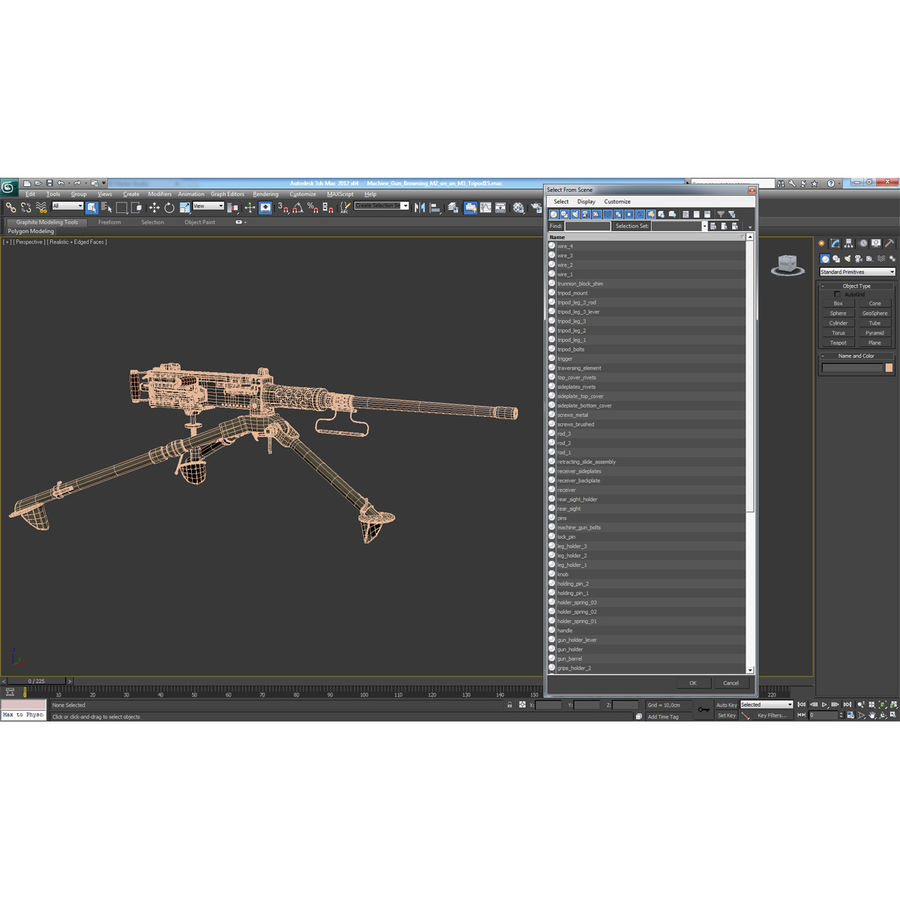 Machine Gun Browning M2 50 Caliber royalty-free 3d model - Preview no. 28