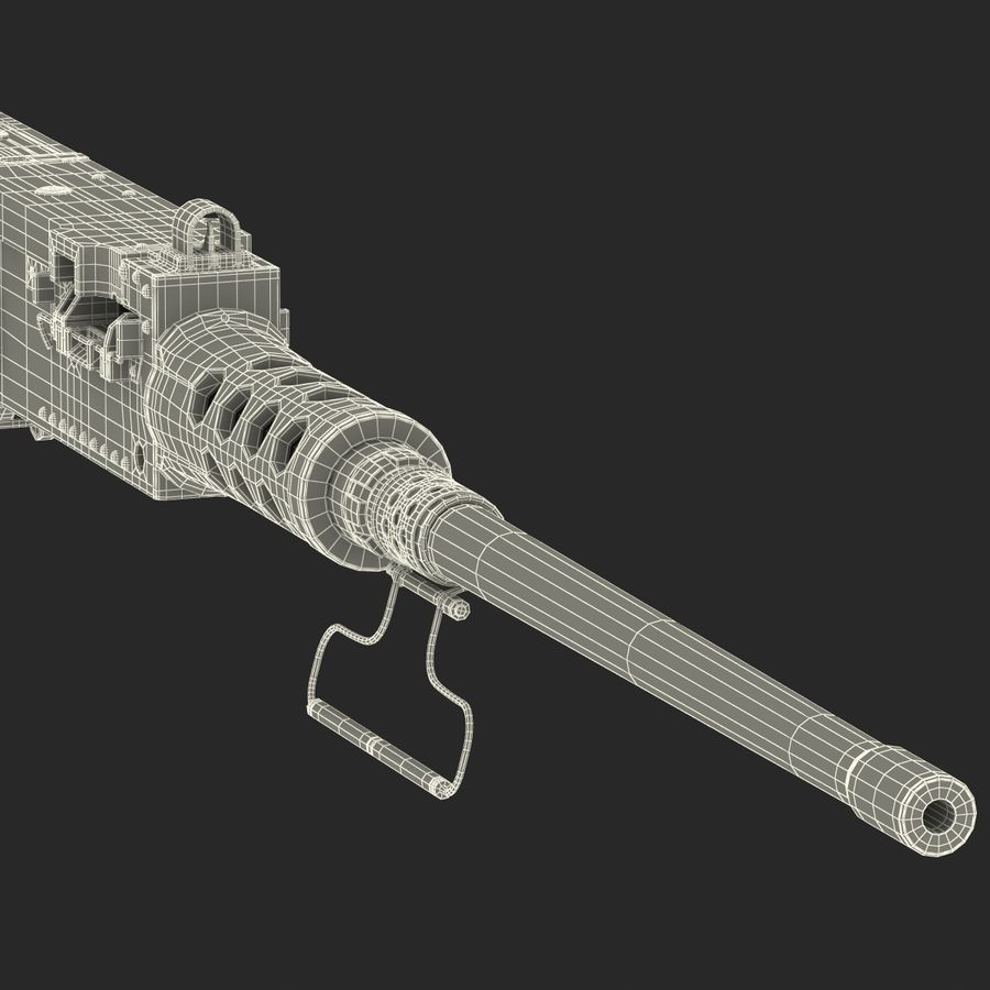 Machine Gun Browning M2 50 Caliber royalty-free 3d model - Preview no. 31