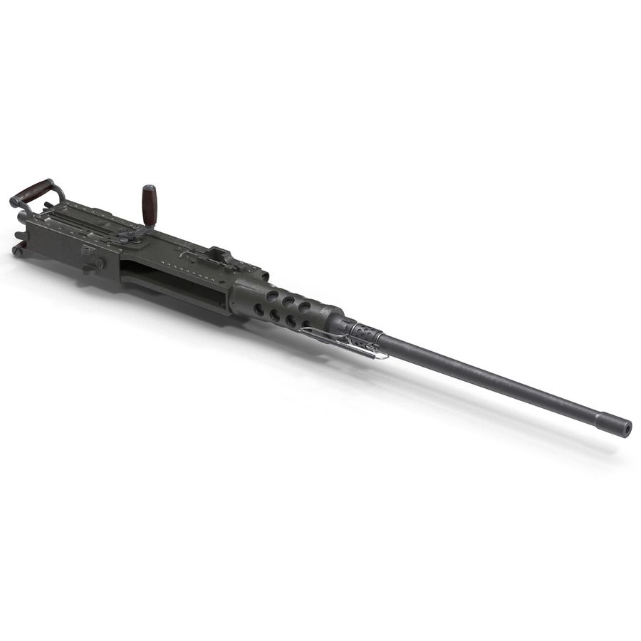 Machine Gun Browning M2 50 Caliber royalty-free 3d model - Preview no. 10