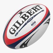 Pelota de rugby gilbert modelo 3d