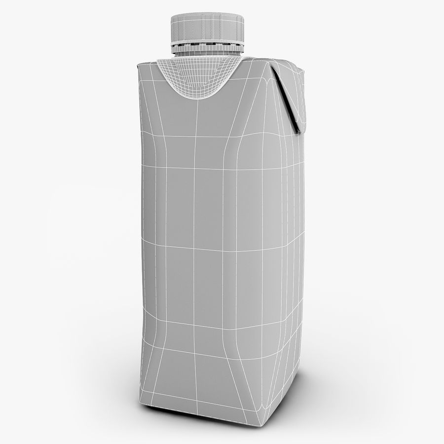 Juice Box 330 ml royalty-free 3d model - Preview no. 8