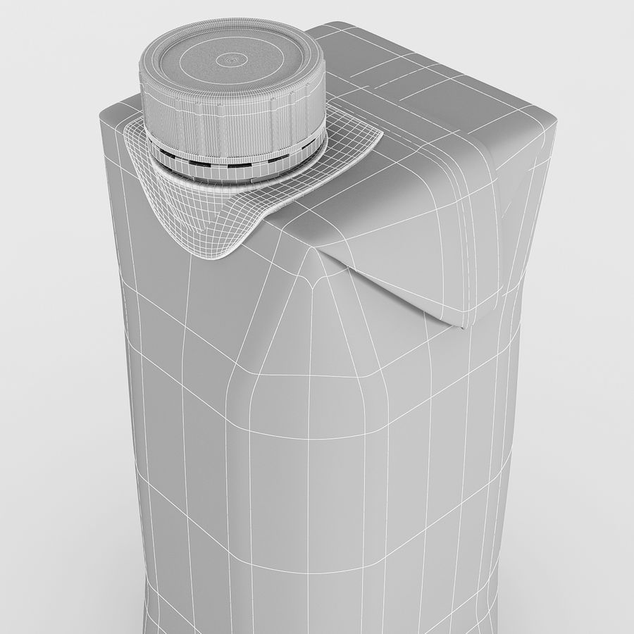 Juice Box 330 ml royalty-free 3d model - Preview no. 9