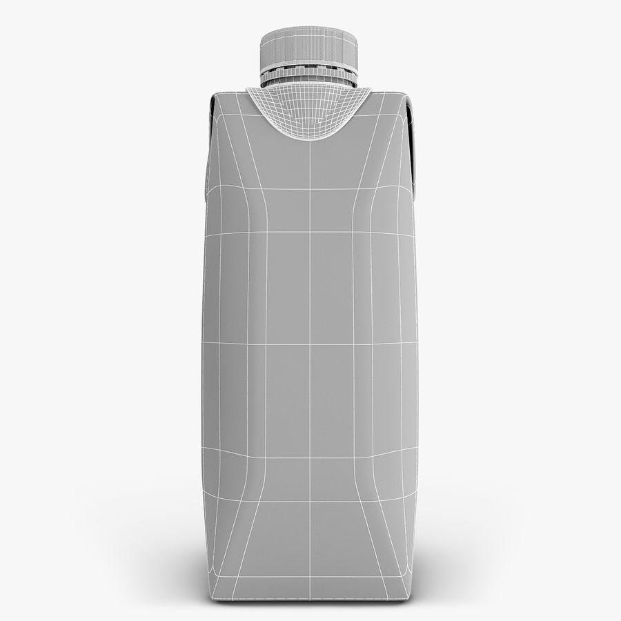Juice Box 330 ml royalty-free 3d model - Preview no. 7