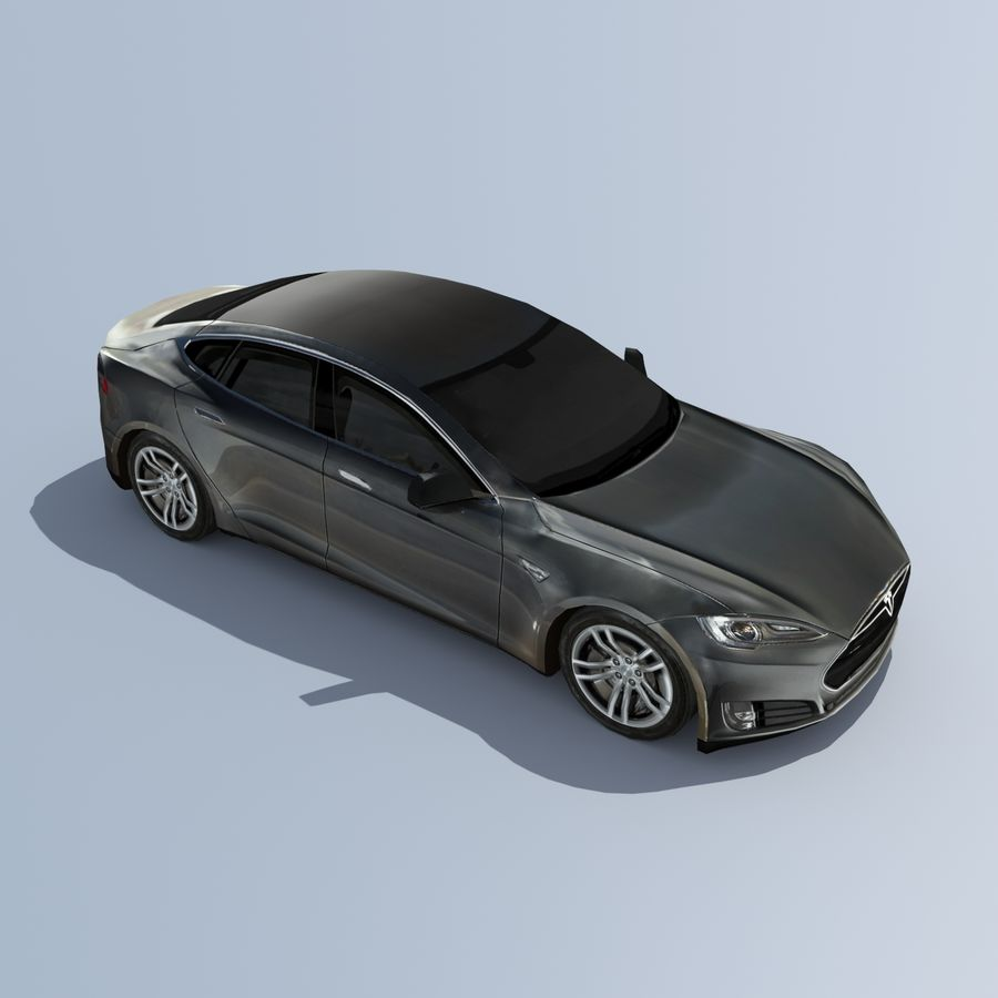 Tesla Model S Titanium Metallic royalty-free 3d model - Preview no. 5