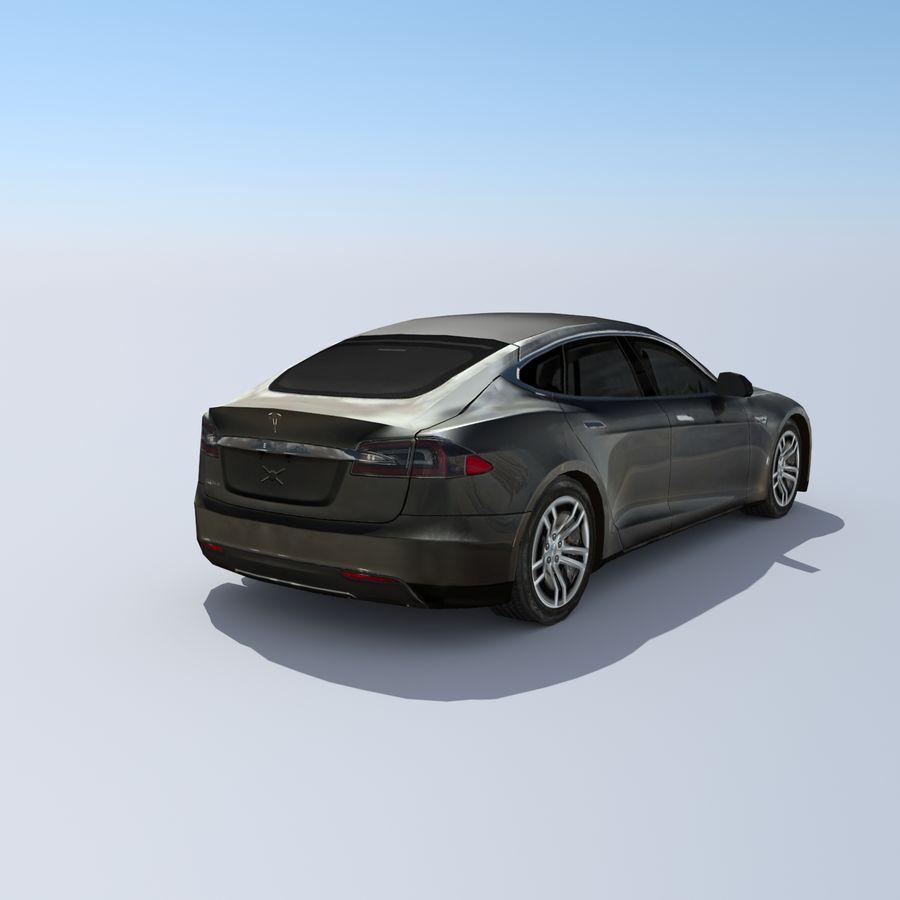 Tesla Model S Titanium Metallic royalty-free 3d model - Preview no. 4