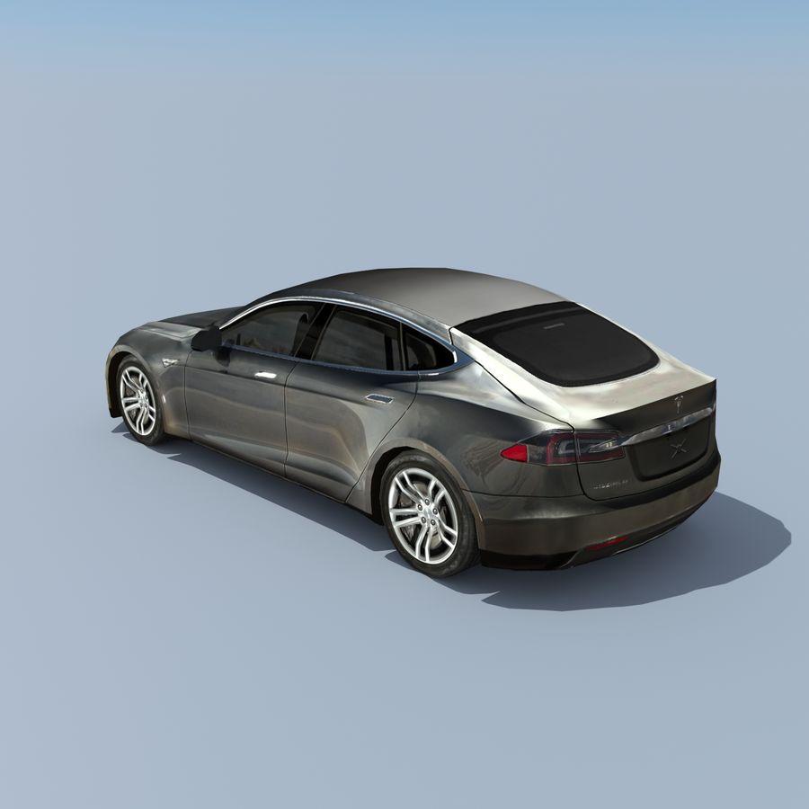 Tesla Model S Titanium Metallic royalty-free 3d model - Preview no. 3