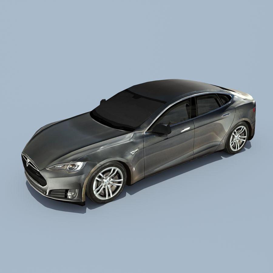 Tesla Model S Titanium Metallic royalty-free 3d model - Preview no. 1