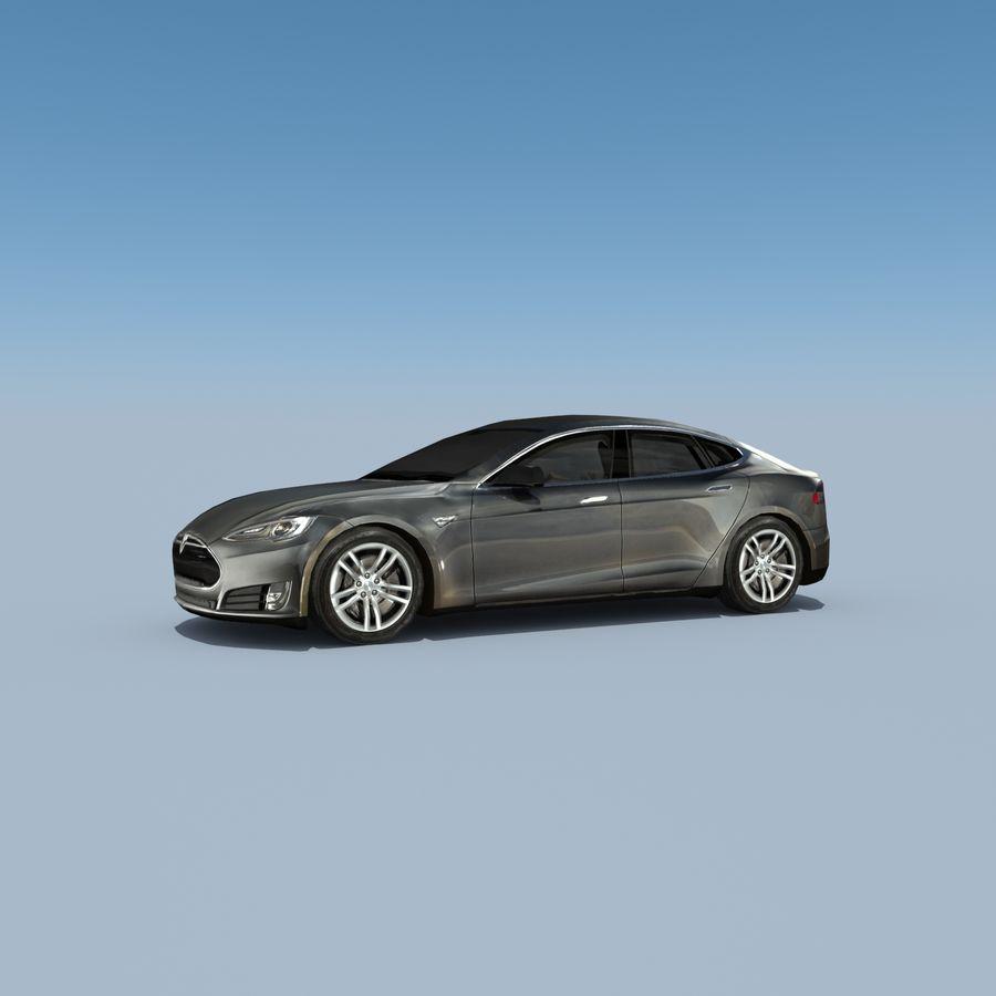 Tesla Model S Titanium Metallic royalty-free 3d model - Preview no. 2