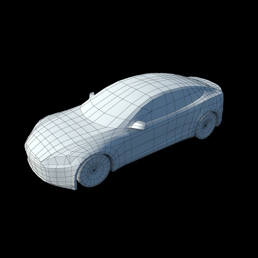 Tesla Model S Titanium Metallic royalty-free 3d model - Preview no. 7