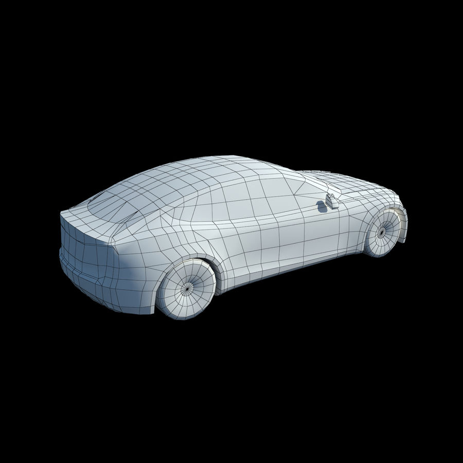Tesla Model S Titanium Metallic royalty-free 3d model - Preview no. 9