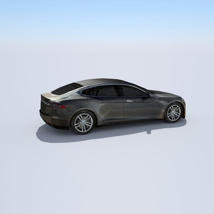 Tesla Model S Titanium Metallic royalty-free 3d model - Preview no. 6