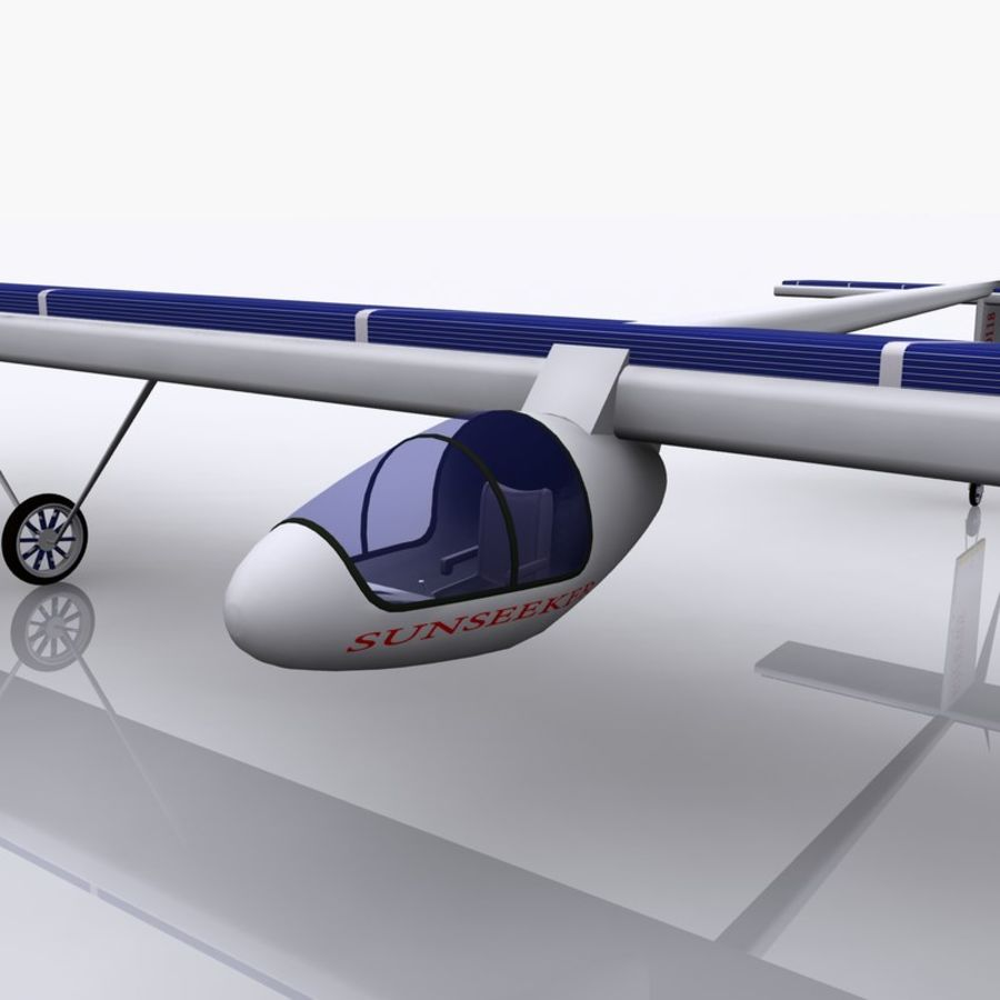 ソーラー航空機 royalty-free 3d model - Preview no. 14