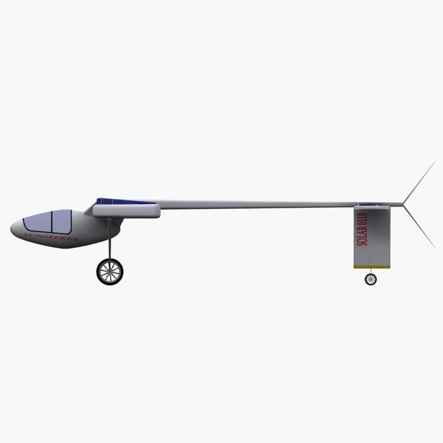 ソーラー航空機 royalty-free 3d model - Preview no. 9